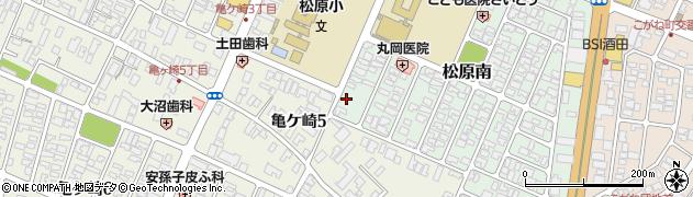 山形県酒田市松原南14周辺の地図