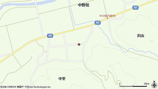 山形県酒田市中野俣中里41周辺の地図