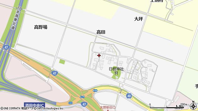山形県酒田市大野新田村南156周辺の地図