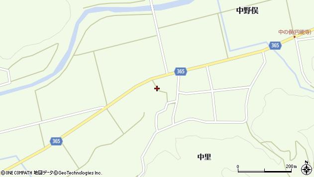 山形県酒田市中野俣大坪周辺の地図