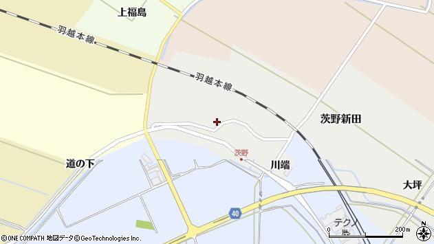 山形県酒田市茨野新田42周辺の地図