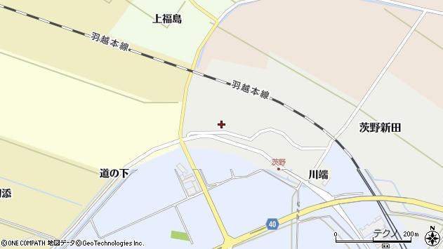 山形県酒田市茨野新田47周辺の地図
