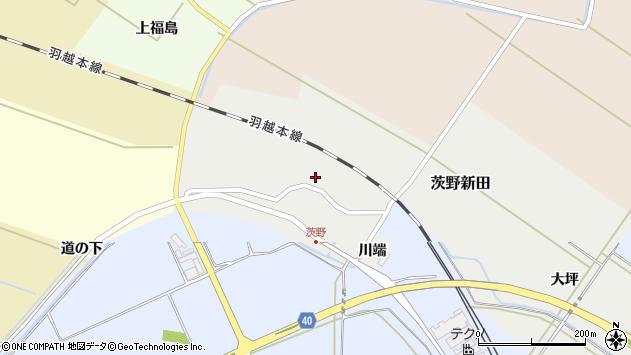 山形県酒田市茨野新田35周辺の地図