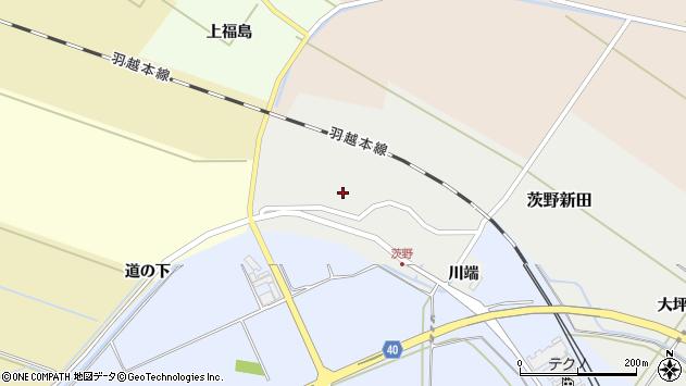 山形県酒田市茨野新田43周辺の地図