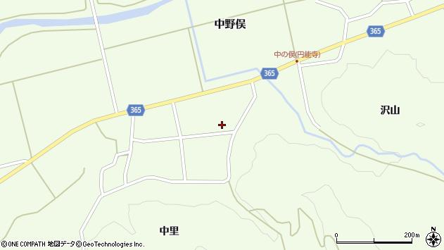 山形県酒田市中野俣中瀬110周辺の地図