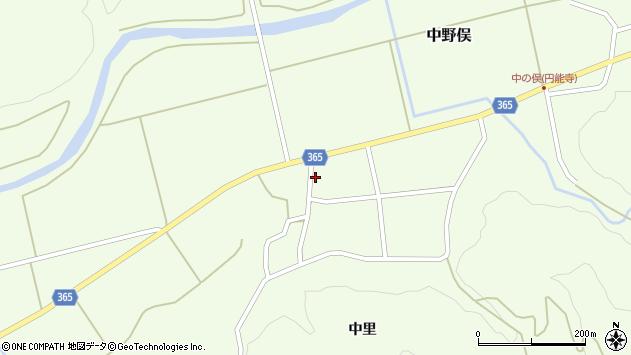 山形県酒田市中野俣中瀬周辺の地図