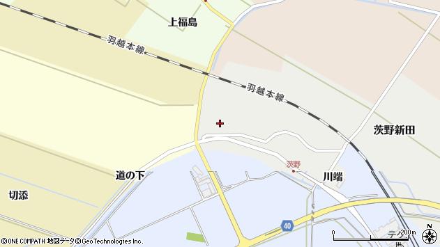 山形県酒田市茨野新田48周辺の地図