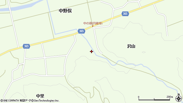 山形県酒田市中野俣沢山39周辺の地図