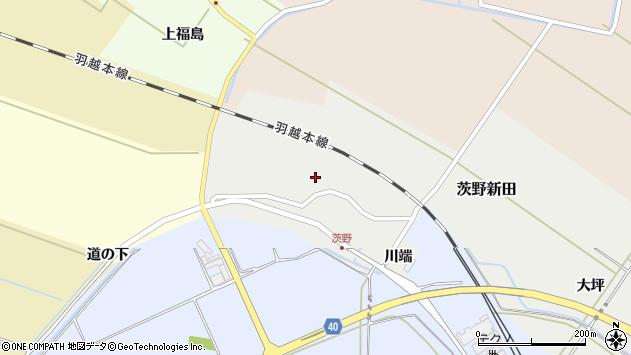 山形県酒田市茨野新田41周辺の地図