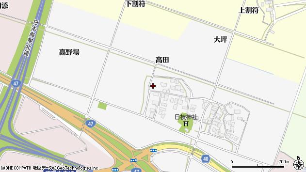 山形県酒田市大野新田高田12周辺の地図