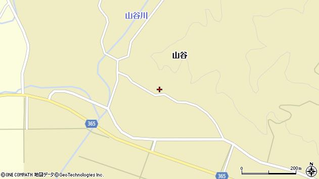 山形県酒田市山谷三ケ沢6周辺の地図