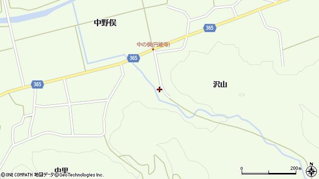 山形県酒田市中野俣沢山37周辺の地図