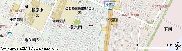 山形県酒田市松原南9周辺の地図