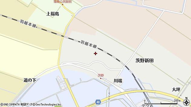 山形県酒田市茨野新田39周辺の地図