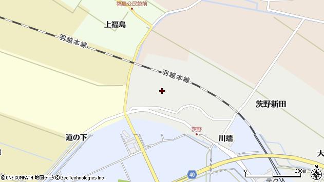 山形県酒田市茨野新田45周辺の地図