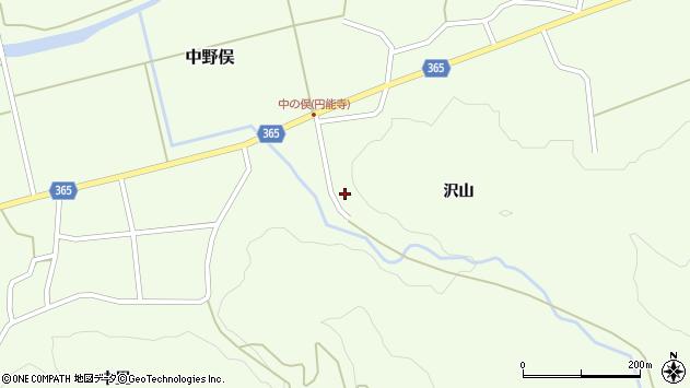 山形県酒田市中野俣沢山80周辺の地図
