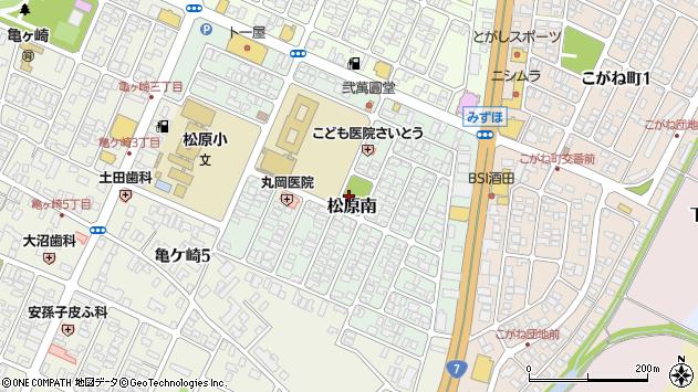 山形県酒田市松原南12周辺の地図