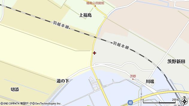 山形県酒田市茨野新田51周辺の地図