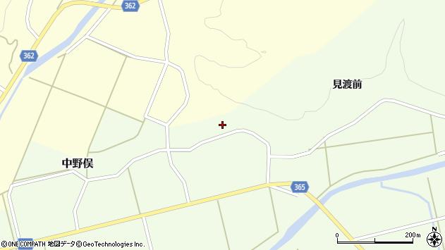 山形県酒田市中野俣見渡前185周辺の地図
