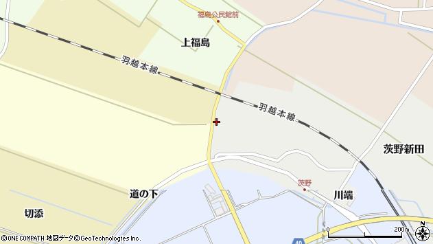 山形県酒田市茨野新田村北周辺の地図