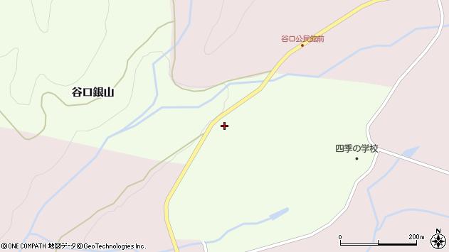 山形県最上郡金山町谷口銀山8周辺の地図