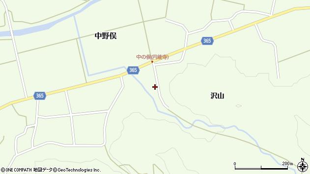 山形県酒田市中野俣沢山周辺の地図
