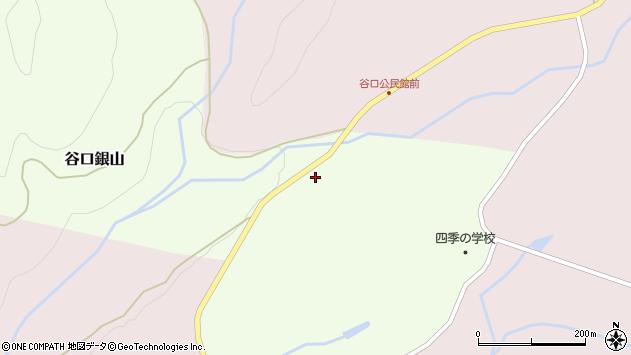 山形県最上郡金山町谷口銀山周辺の地図
