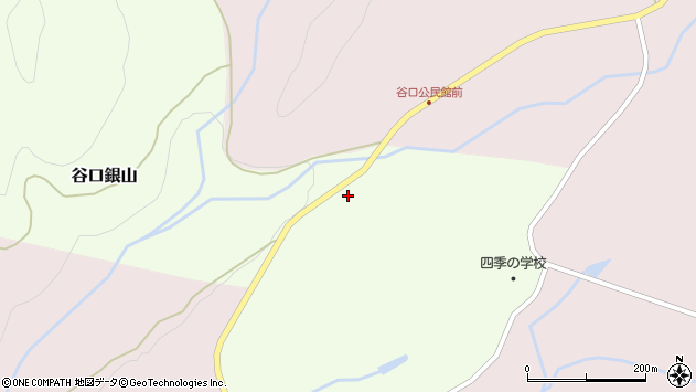 山形県最上郡金山町谷口銀山4周辺の地図