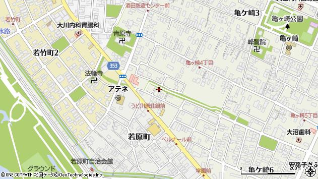 山形県酒田市亀ケ崎4丁目周辺の地図