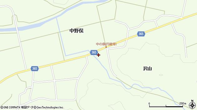 山形県酒田市中野俣沢山51周辺の地図