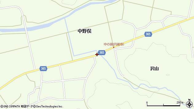 山形県酒田市中野俣沢山137周辺の地図