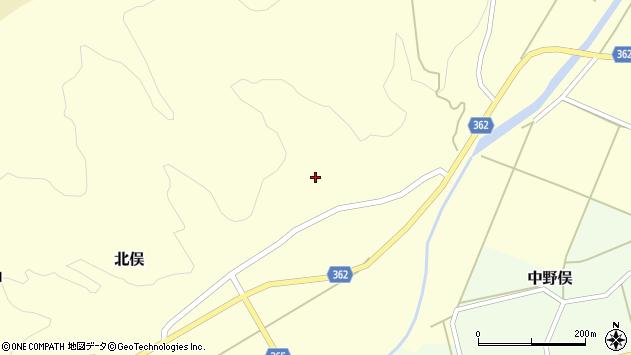 山形県酒田市北俣小平沢21周辺の地図