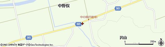 山形県酒田市中野俣沢山57周辺の地図