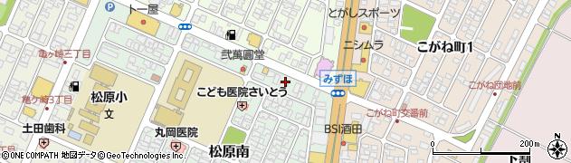 山形県酒田市松原南6周辺の地図
