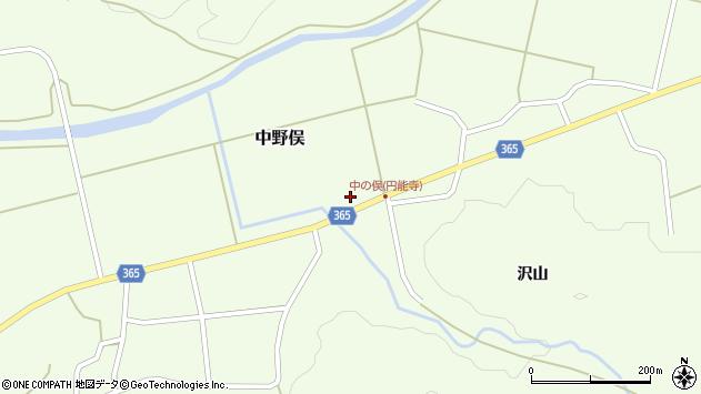 山形県酒田市中野俣進藤前周辺の地図