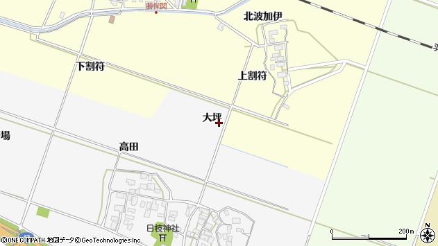 山形県酒田市大野新田大坪周辺の地図