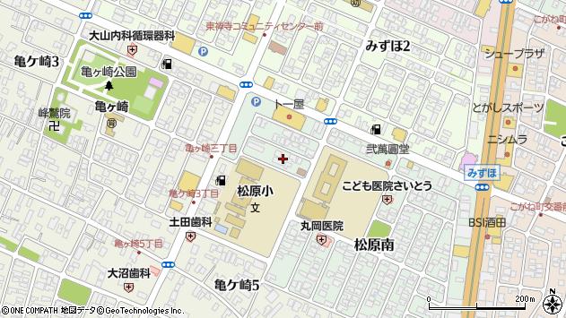 山形県酒田市松原南2周辺の地図
