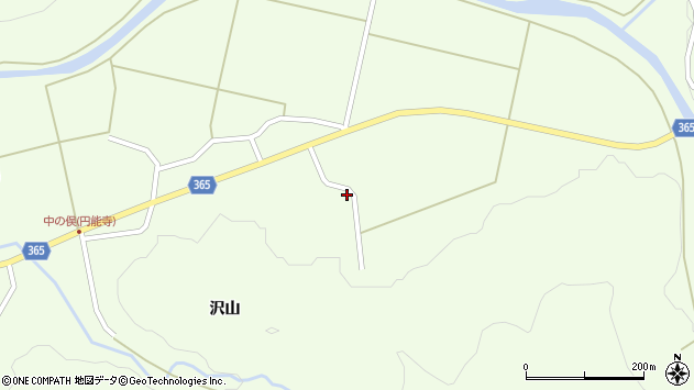 山形県酒田市中野俣岡道6周辺の地図