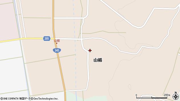山形県酒田市山楯清水田27周辺の地図