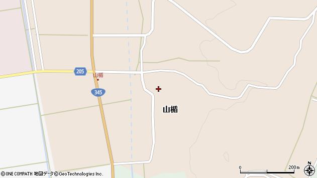 山形県酒田市山楯清水田周辺の地図