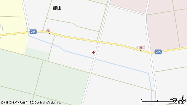 山形県酒田市郡山上台25周辺の地図