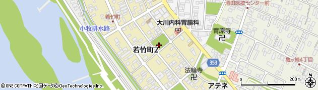 山形県酒田市若竹町2丁目周辺の地図