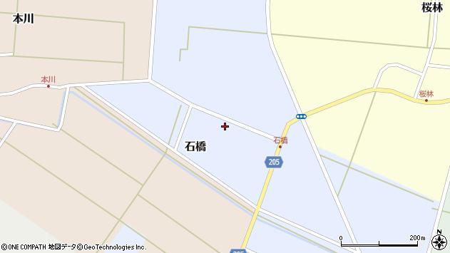 山形県酒田市石橋70周辺の地図
