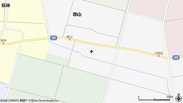 山形県酒田市郡山147周辺の地図
