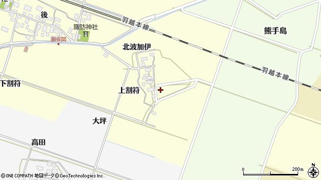 山形県酒田市勝保関上割符12周辺の地図