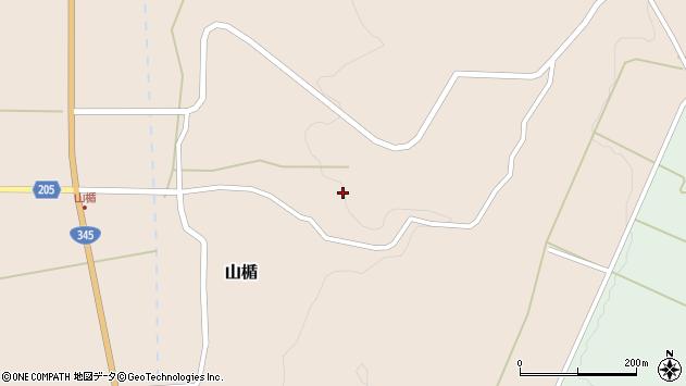 山形県酒田市山楯北山添周辺の地図