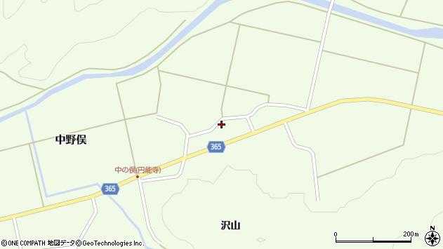 山形県酒田市中野俣村北12周辺の地図