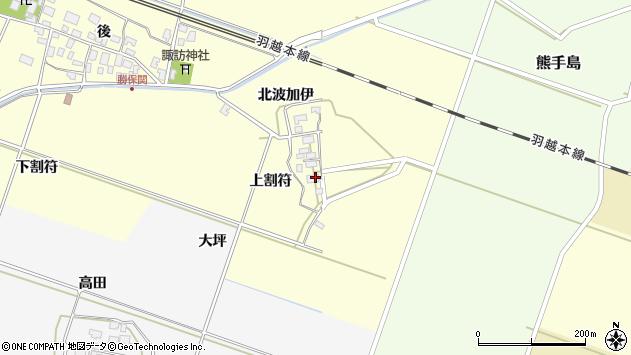 山形県酒田市勝保関上割符22周辺の地図