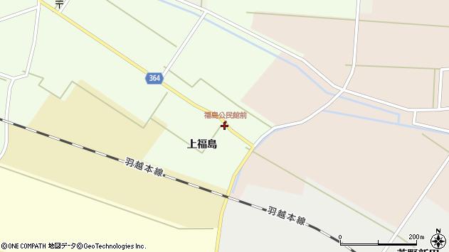山形県酒田市熊手島上福島34周辺の地図