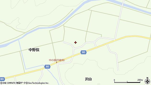 山形県酒田市中野俣村北21周辺の地図